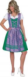 Costume tradizionale verde e viola Bavarese donna