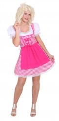Costume tradizionale rosa a quadri bavarese donna