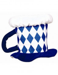 Cappello boccale di birra colori bavaresi