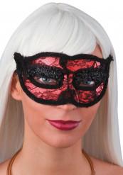 Mascherina merletto rossa