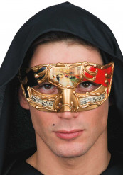 Maschera veneziana pentagramma rossa adulto