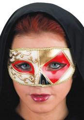 Maschera veneziana triangolo rosso adulto
