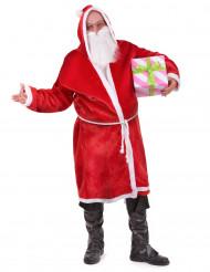 Costume da babbo natale per adulto con cappuccio
