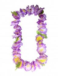 Collana di fiori hawaiana viola