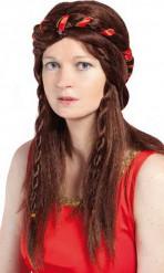 Parrucca medievale castana donna