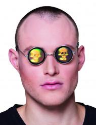 Occhiali metal con ologramma teschio