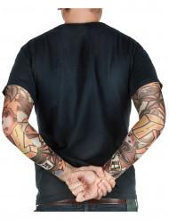 Manicotti finto tatuaggio