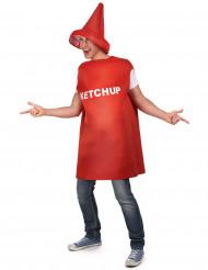 Costume da barattolo di ketchup adulto