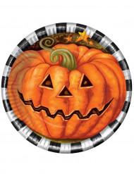 Image of Lotto di 6 piatti zucca cartone Halloween