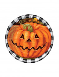 Image of        6 Piattini zucca in cartone Halloween