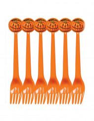 6 forchette zucca Halloween