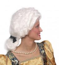 Parrucca bianca da marchesa per adulto
