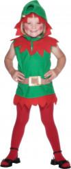 Costume elfo di natale bambina