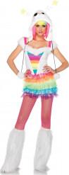 Costume mostro arcobaleno donna