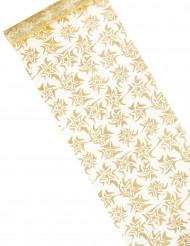 Runner da tavolo bianco dorato stellato