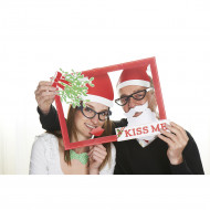 Kit photobooth Natale : Kiss me