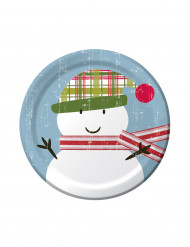 8 piatti piccoli pupazzo neve