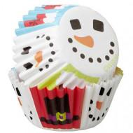 100 Mini pirottini per cupcakes Pupazzo di neve