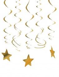 30 decorazioni da appendere stelle d'oro