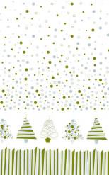 Tovaglia in rotolo di carta damascata alberi Natale