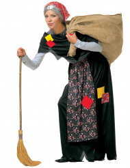 Costume da befana con toppe per adulto