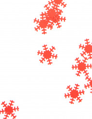 Coriandoli fiocchi di neve rossi