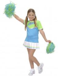 Costume ragazza pompon azzurro bambina