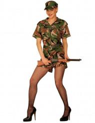 Costume militare mimetico per donna