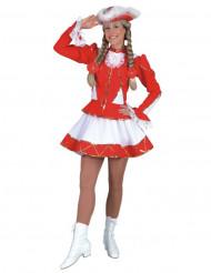 Costume majorette rosso donna