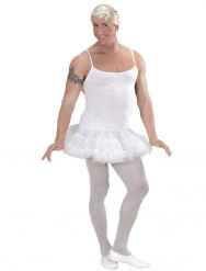 Costume bianco da ballerina per uomo