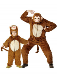 Costume coppia di scimmie padre e figlio