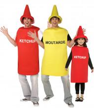 Costume di gruppo ketchup e mostarda
