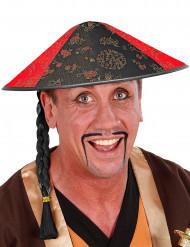 Cappello cinese floreale con treccia