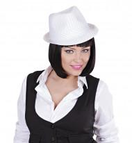 Cappello da gangster bianco adulto
