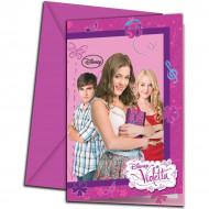 6 Inviti con busta Violetta™