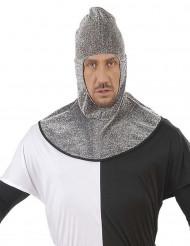Copricapo medievale con colletto per adulto