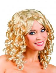 Parrucca bionda boccoli Donna
