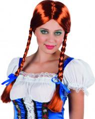 Parrucca rosso rame con trecce Donna