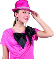 Cappello borsalino rosa brillante adulto