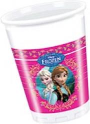 8 Bicchieri di plastica Frozen - Il Regno di Ghiaccio™