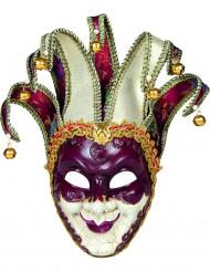 Maschera da Arlecchino stile veneziano per adulto