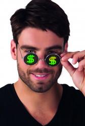 Occhiali rotondi dollari adulto