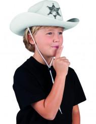 Cappello sceriffo bianco bambino