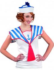 Coprispalla da marinaia con cravatta