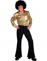 Pantaloni neri stile disco uomo