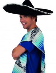 Sombrero messicano nero adulto