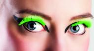 Finte ciglia verdi fluo