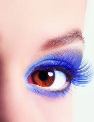 Ciglia finte corte blu per adulto