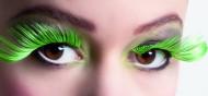 Ciglia finte XL nere e verdi