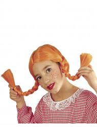 Parrucca trecce arancione ragazza
